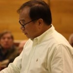 Cerritos community member Richard Lee presented a petition with 1,031 names opposing the Goodwill project.