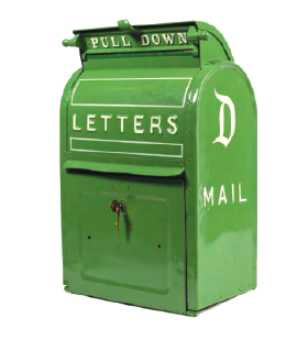 Disney mail box from Disneyland Main Street used for postcards