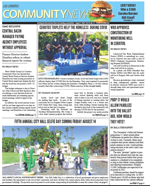 cerritos news front page
