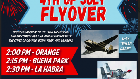 4th of July Flyover Scheduled Over Orange, Buena Park and La Habra