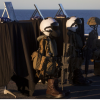 Marine Expeditionary Unit Honors 1st Lt. Benjamin Cross, Cpl. Nathaniel Ordway and Pfc. Ruben Velasco