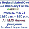 Lakewood Regional Medical Center Ceremony and Free Lunch Honoring First Responders