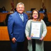 Yvonne Salgado Receives Downey Mayor's Servant Heart Award