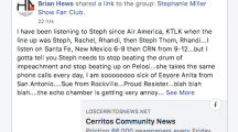 Stephanie Miller Fan Page Pulls HMG-LCCN Post, Calls Publisher a Whiner