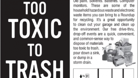Household Hazardous Waste and E-Waste Recycling Roundup in Artesia Saturday Sept. 21