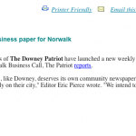 Downey newspaper filing questionable documents to obtain legal status in Norwalk