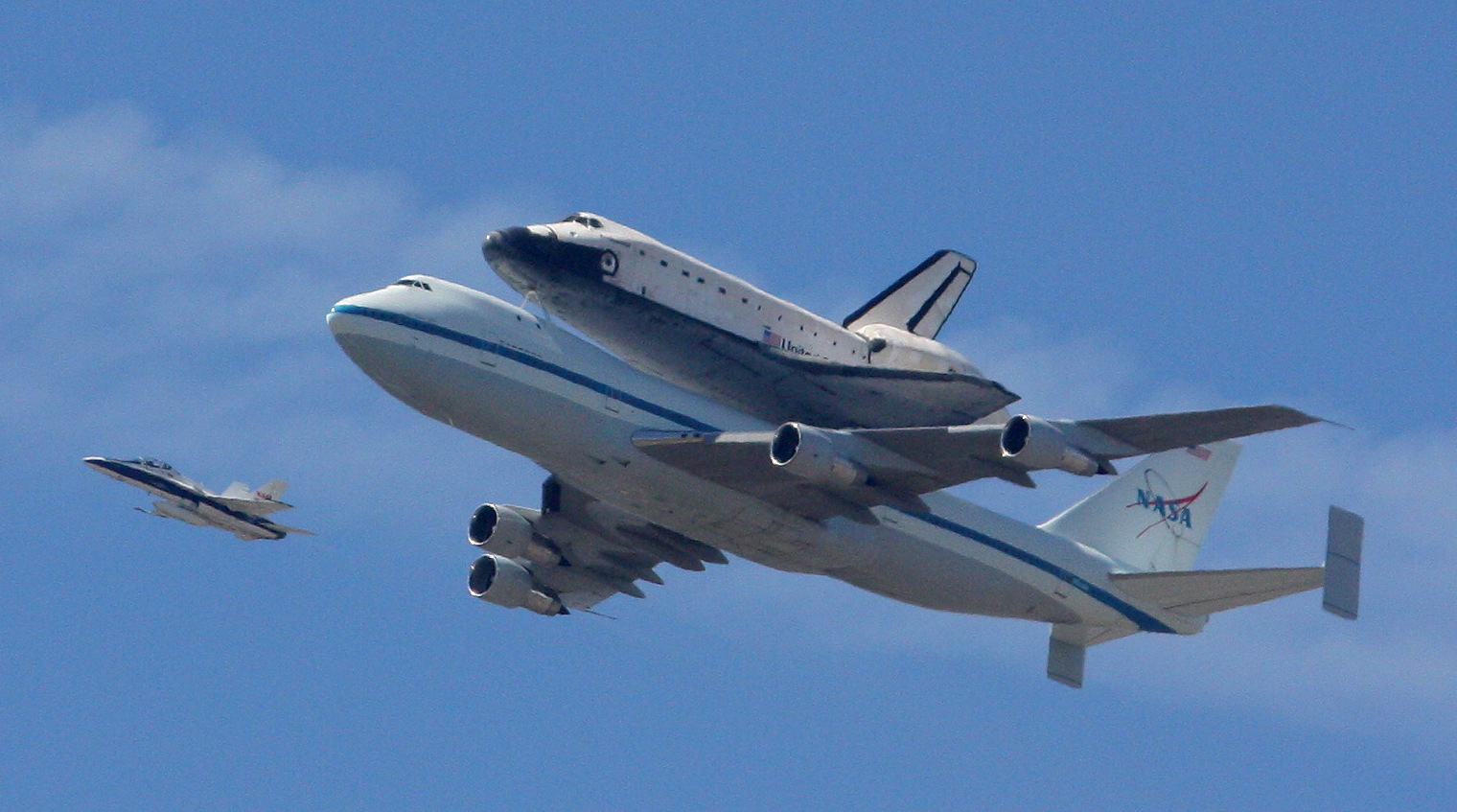 Space Shuttle Endeavor cruises over Norwalk and Cerritos on Friday on its final flight.