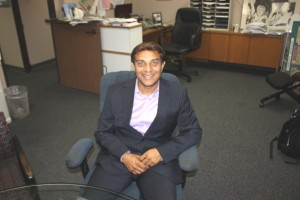Artesia City Council candidate Ali Taj visits with Hews Media Group-Community Newspaper recently to talk about his campaign.  Randy Economy Photo