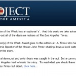 Project to Restore America Touts Hews Media Group Story on Speaker Perez, Bashes LA Times for Not Covering Story