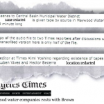 Los Angeles Times Withheld Information, Facts on Central Basin Water Scheme Involving Calderon, Speaker Perez, and Villaraigosa