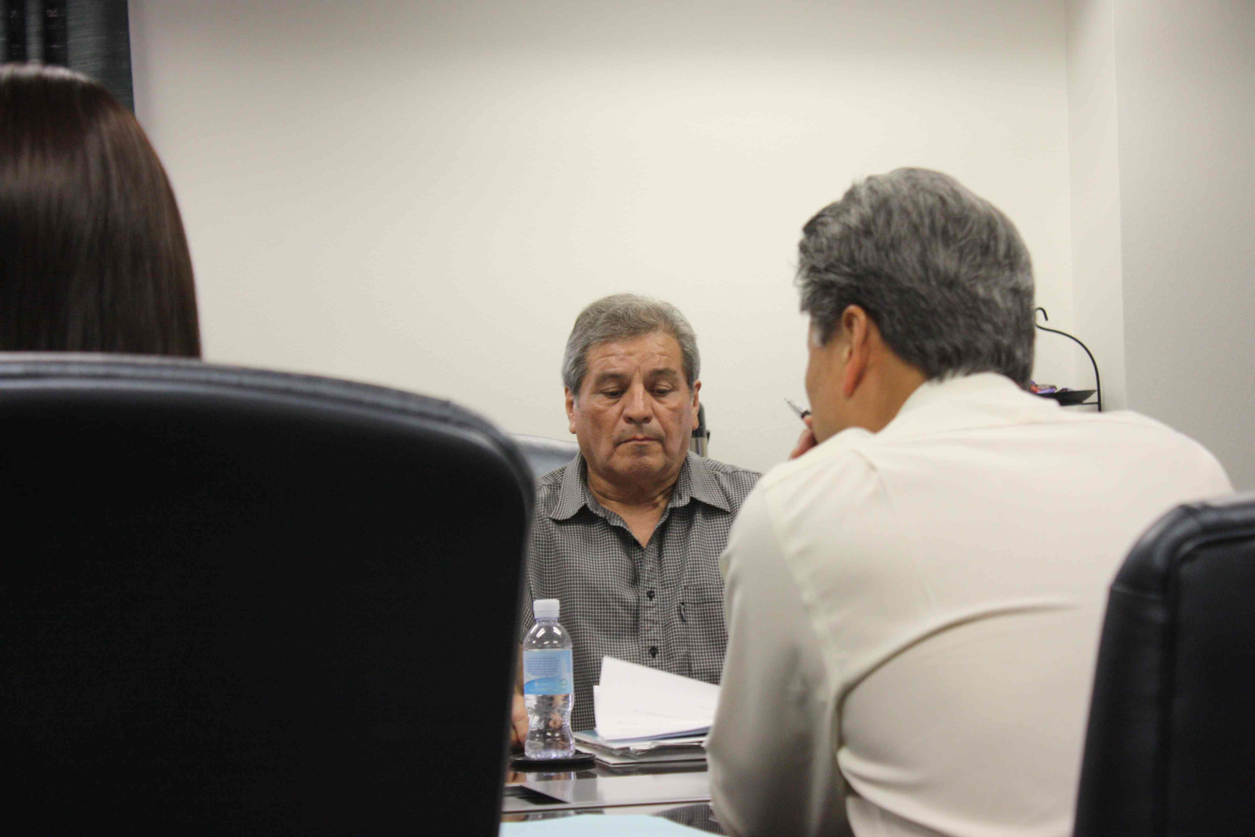 Central Basin Water District President James Roybal in Commerce after leaving LAUSD Teacher Jail.  Randy Economy Photo