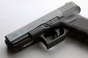 Glock pistol carried by Compton Code officers.