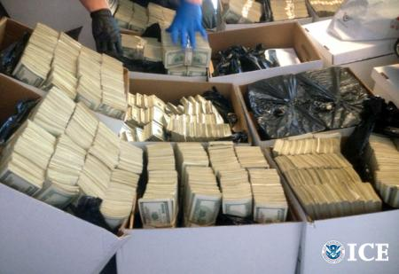 Part of the loot recovered in Downtown LA today as part of Operation Fashion Police.  ICE Photo