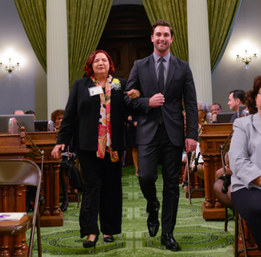 Rosa Barragan received a Woman of the Year award from Assembly-member Ian Calderon in 2015.