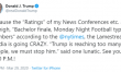 POTUS PSYCHOPATH? Trump Tweets He is 'Thrilled' With Virus News Conference Ratings
