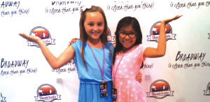 (l-r) Lauren Gravitt, 4th grader at Kennedy STEM Academy and Adrienne Morrow, 4th grader at Cerritos Elementary were part of the incredible children's cast for Joseph and the Amazing Technicolor Dreamcoat performance.